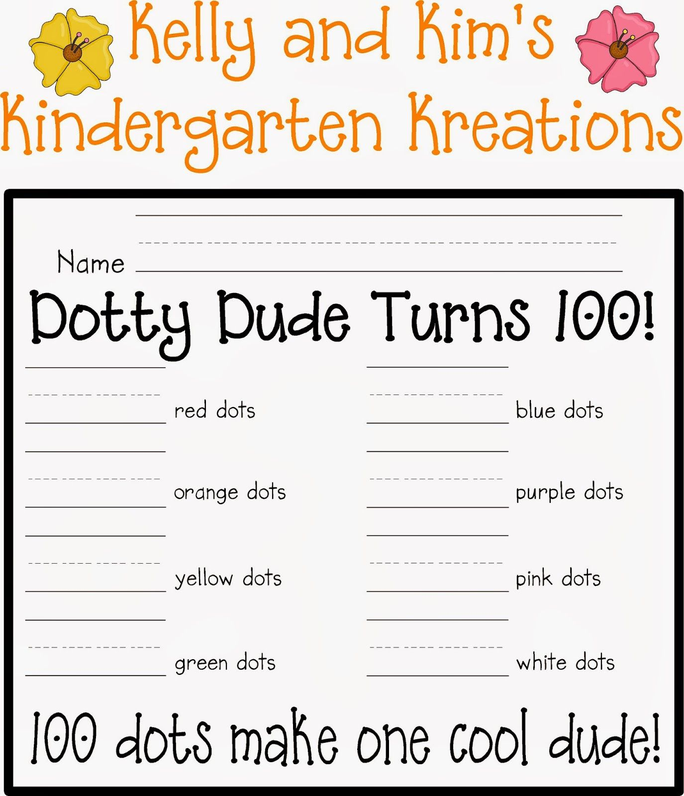 Kelly and Kim's Kindergarten Kreations: 100th Day Fun!