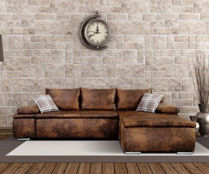 Leder-Ecksofa im Vintage-Look DELIFE Sofa Pinterest - Wohnzimmer Braunes Sofa