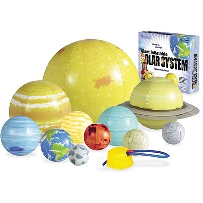 Learn about the Solar System with this inflatable set of planets  #solarsystem #educationaltoys #astronomy #fun #inflatables