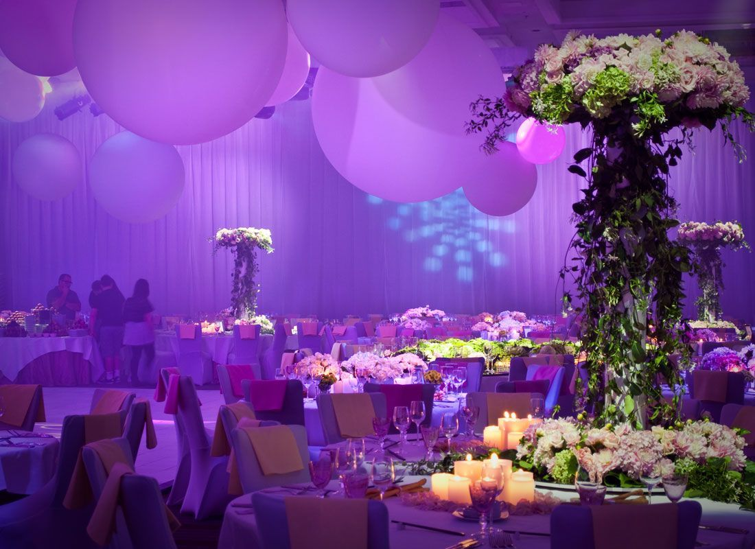Wedding decoration ideas purple  Pin by eZXpo  Virtual Trade Show Software on Private Business