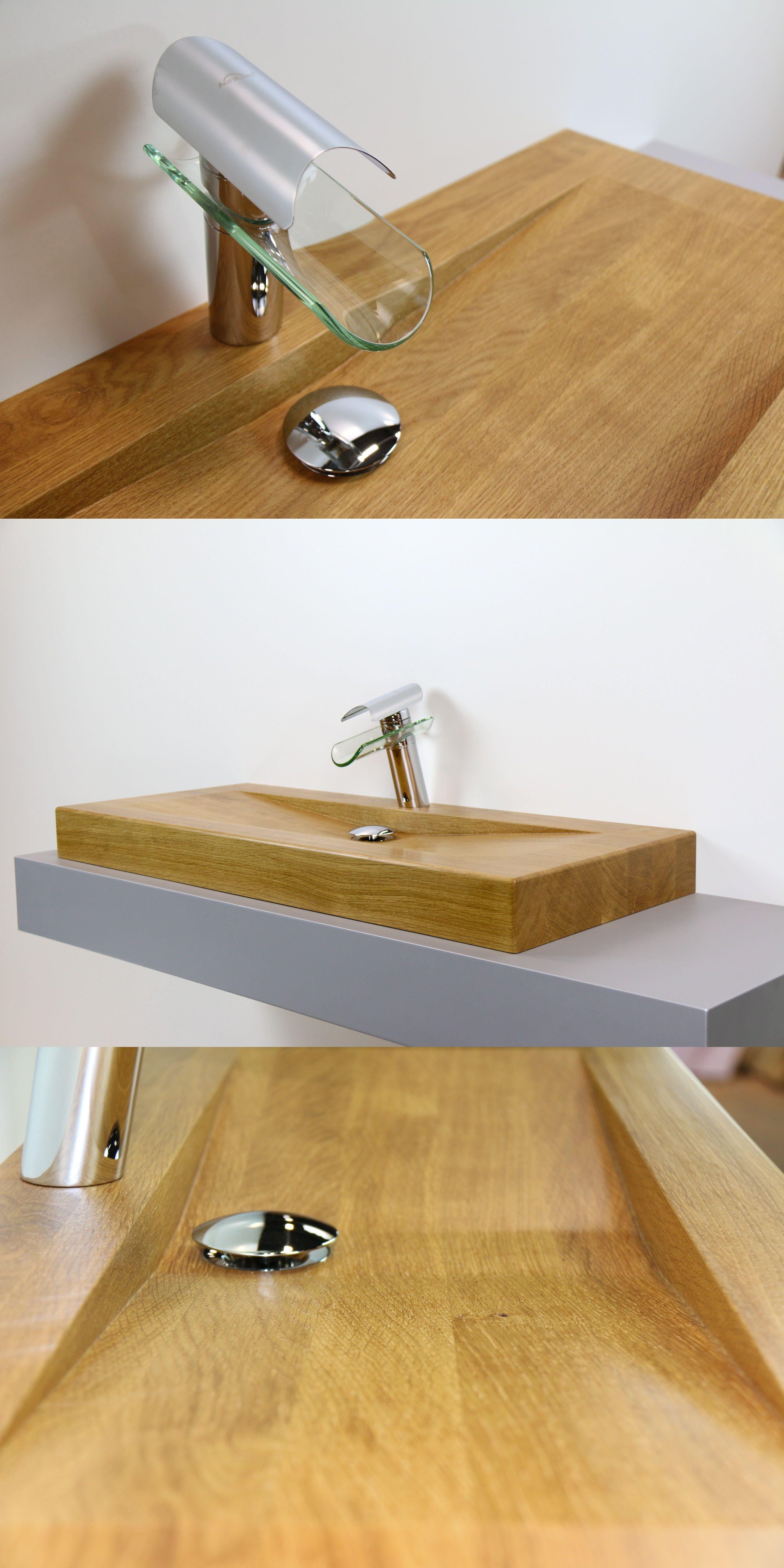 Schlicht, modern, praktisch Waschbecken aus Holz von woodbasin. mit Bildern   Waschbecken ...