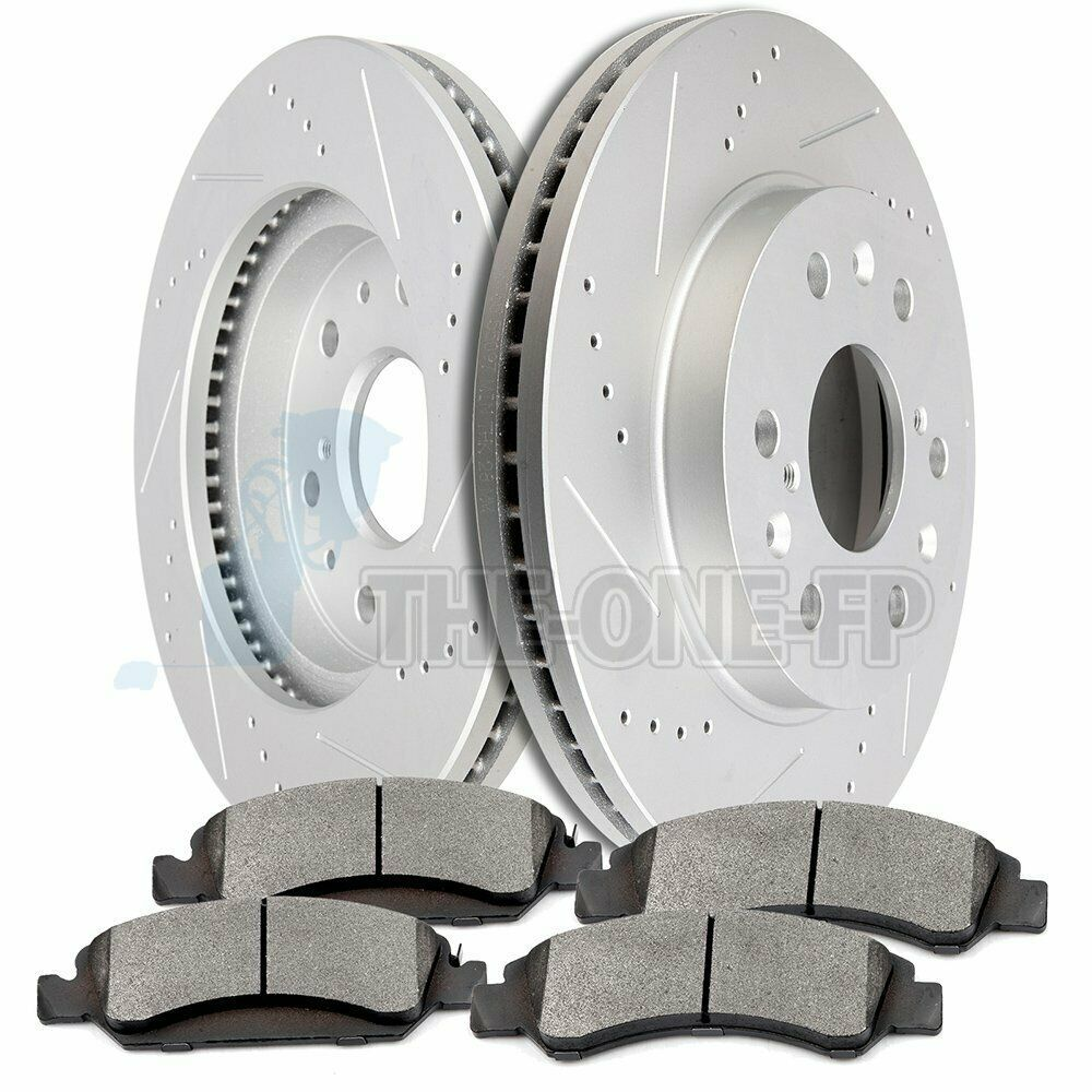 2014 2015 2016 for GMC Sierra 1500 Disc Brake Rotors and Ceramic Pads Front