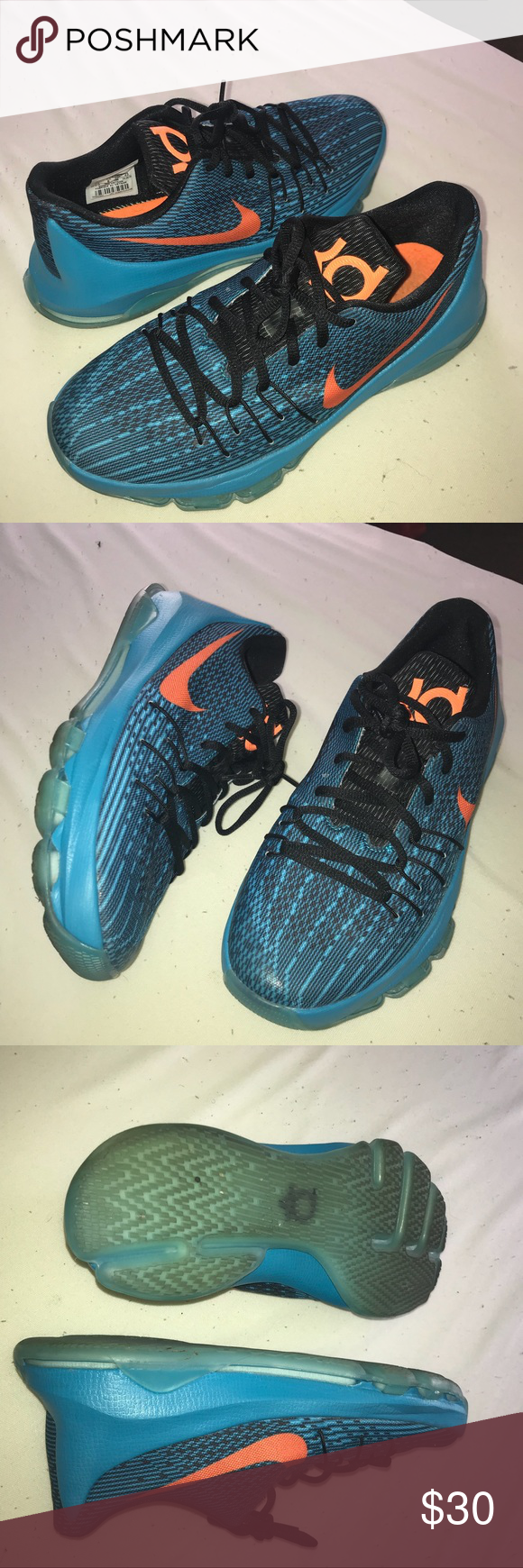 "0fbbcedba240 Nike KD 8 Nike KD 8 ""The Road Game"" Size 7y Colorway  BLUE LAGOON ..."