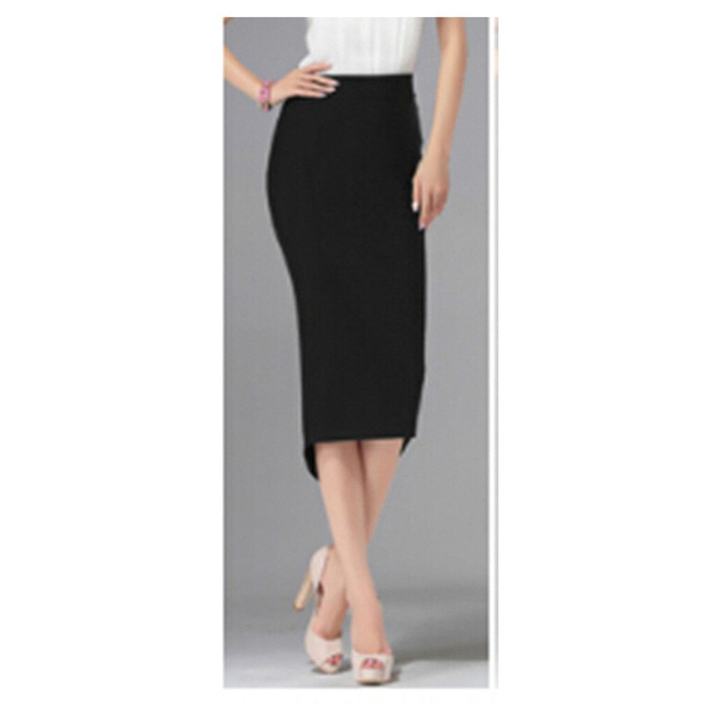 Sexy Womens Ladies Pencil Fit Skirt Pencil Slim Tight Skirt Waist ...