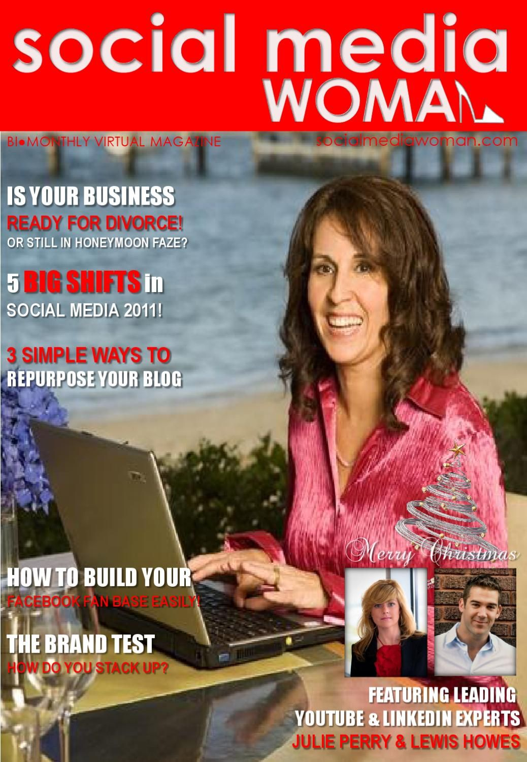 Social Media Woman Dec Edition  http://www.socialmediawoman.com/magazine Get the most up-to-date social media marketing strategies from the leading social media experts from around the world that you can implment immediately into your business and start seeing results. Pam Brossman is a leading Video Marketing Speaker, Author, Trainer and Consultant providing a communication platform to benefit global online business owners wishing to market their business, brand and services effectively ...