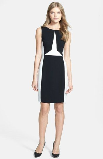 97965e7d Ivanka Trump Colorblock Sheath Dress available at #Nordstrom ...