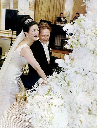 Catherine Zeta Jones Michael Douglas Wedding Day Follow