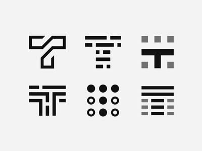 T Data Marks Minimal Logos Inspiration Logo Design Tile Logo