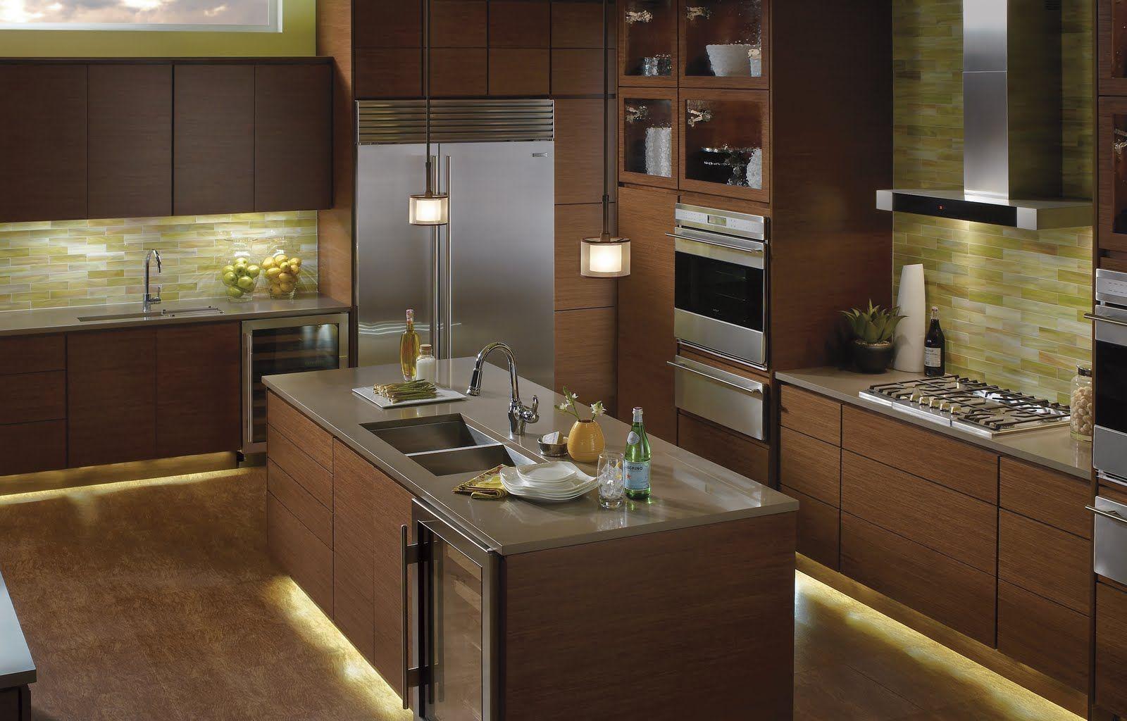 Kichler Under Cabinet Lighting: Steel Lily Design Layering Light In  Interiors