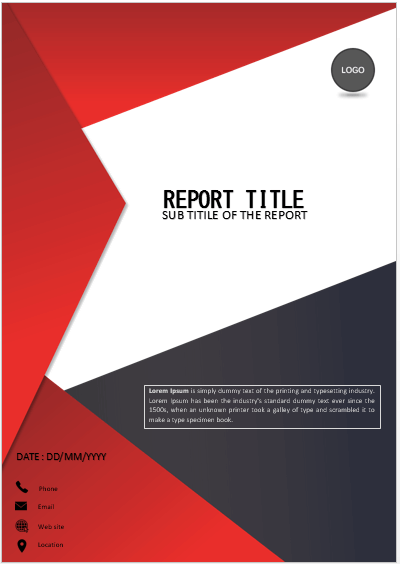 Cover Page Red And Black Stripes Cover Page Cover Pages Cover Pages Cover Page Template Booklet Design