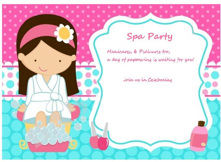 Invite Spa Party Invitations Kids Spa Party Girl Spa Party