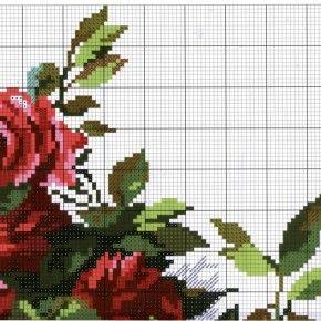 Схема вышивки Розы (Алиса) 2 из 4