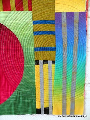 Tutorial - quilting in a spiral on a DSM  -  The Quilting Edge