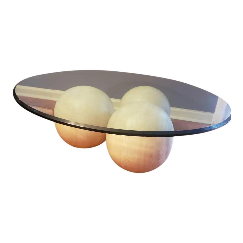 Modern Triple Solid Travertine Sphere Coffee Table Chairish Coffee Table Travertine Vintage Table [ 1000 x 1000 Pixel ]