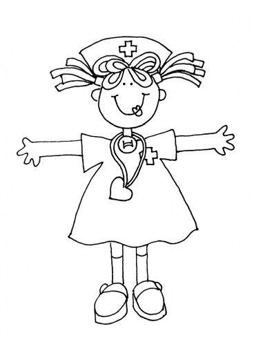 Enfermera dibujo   Enfermeria y salud   Bordado, Dibujos y Imprimir ...