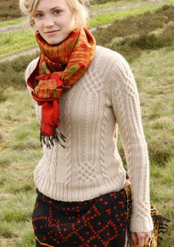 wool / camel cables - Rebecca 40