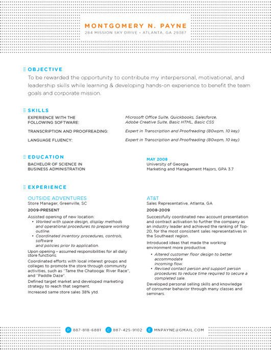 resume design layout inspiration noticeable pattern headerfooter color subject headers detailed conservative slightly difficult to read with the