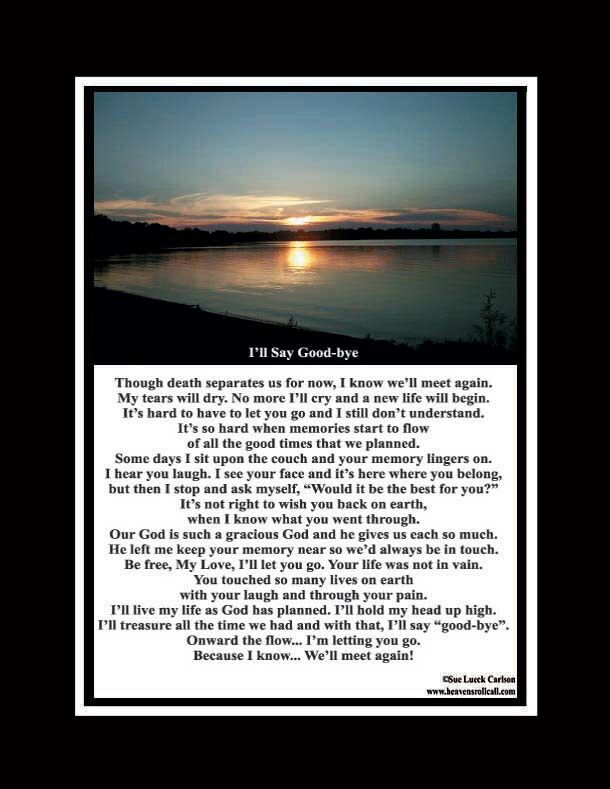 Inspirational Poems About Death Of A Loved One 7