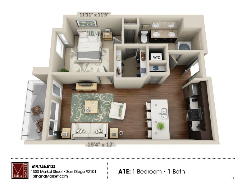 13th Market Is A Ground Breaking Apartment Building Located In The Heart Of Downtown San Diego Luxuri Interior Design Plan Tiny House Plan Apartment Layout