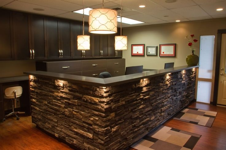 how to build a front desk counter