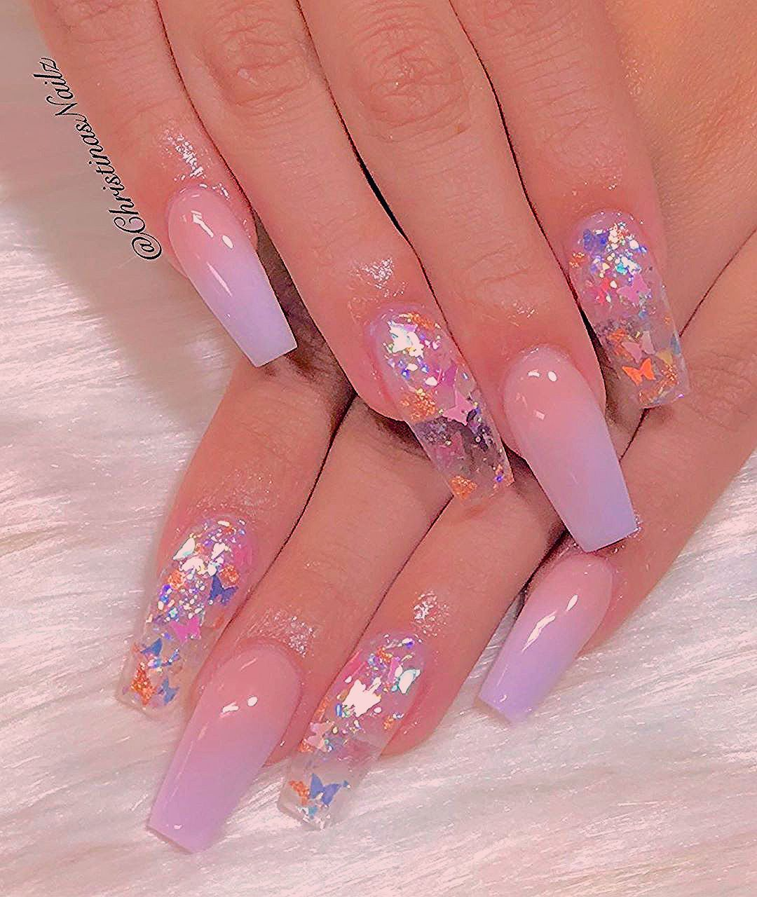Pin By Abygail Martell On Acrylic Nails In 2020 Purple Acrylic Nails Pretty Acrylic Nails Fire Nails