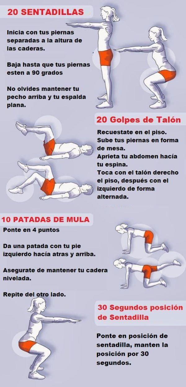 Adelgazar piernas y aumentar gluteos