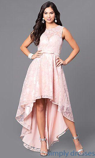 Western formal hi-lo lace dress