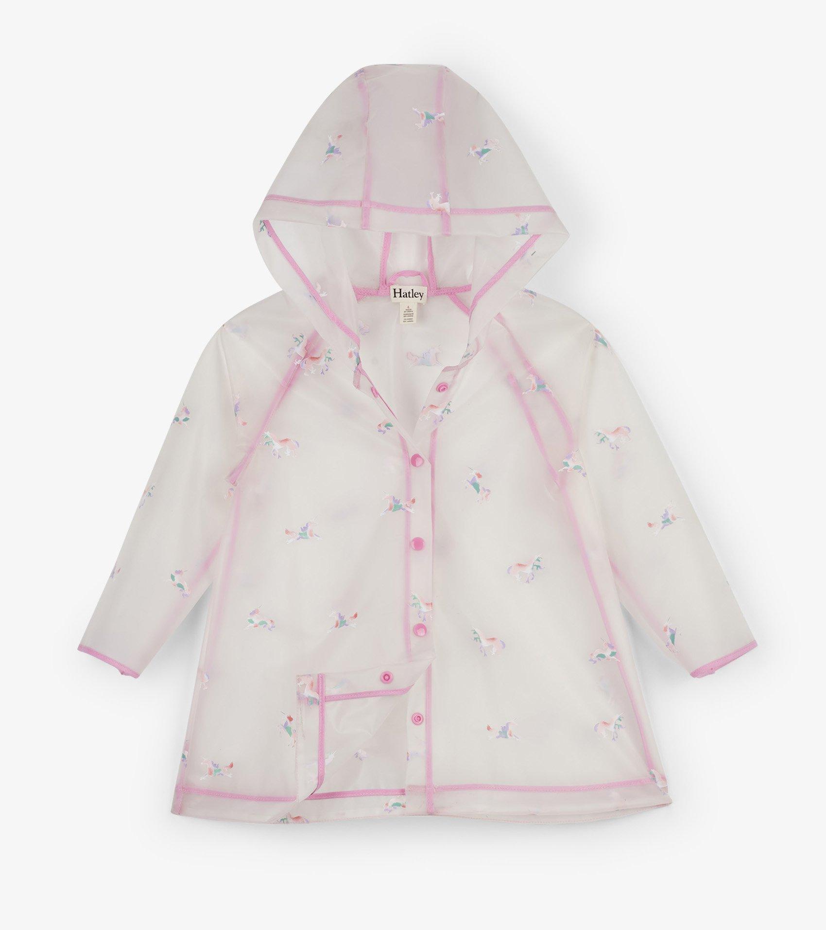 0709ec77d Rainbow Unicorn Rain Jacket in 2019