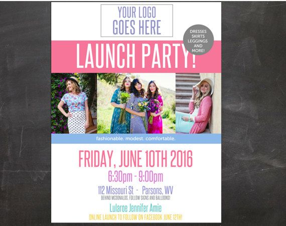 Lulalroe EDITABLE PDF Launch Party Flyer 85 x 11 in for Fashion