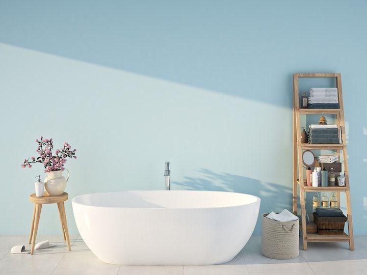 Badkamer verven of behangen - Painted bathroom | Badkamer ...