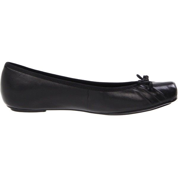 Jessica Simpson Leve (Black Western Leather) Women's Flat Shoes ($50) ❤  liked