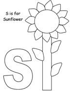Sunflower Coloring page from Making Learning Fun