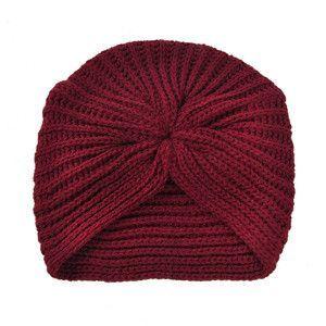 2016 HOT Ladies Metal Jewel Accessory Winter Warm gem Turban Soft Knit Beanie Crochet Headwrap Women Hat Cap 3 Styles