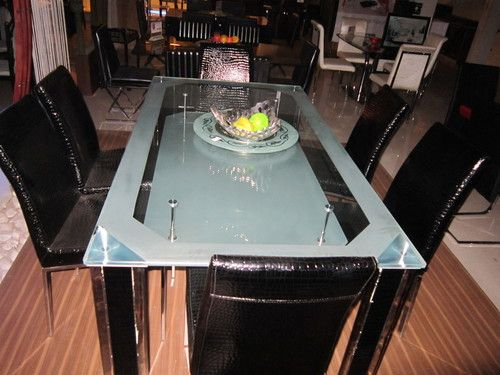 glass top dining table and chairs. glass top dining table india  Ideas for the House Pinterest
