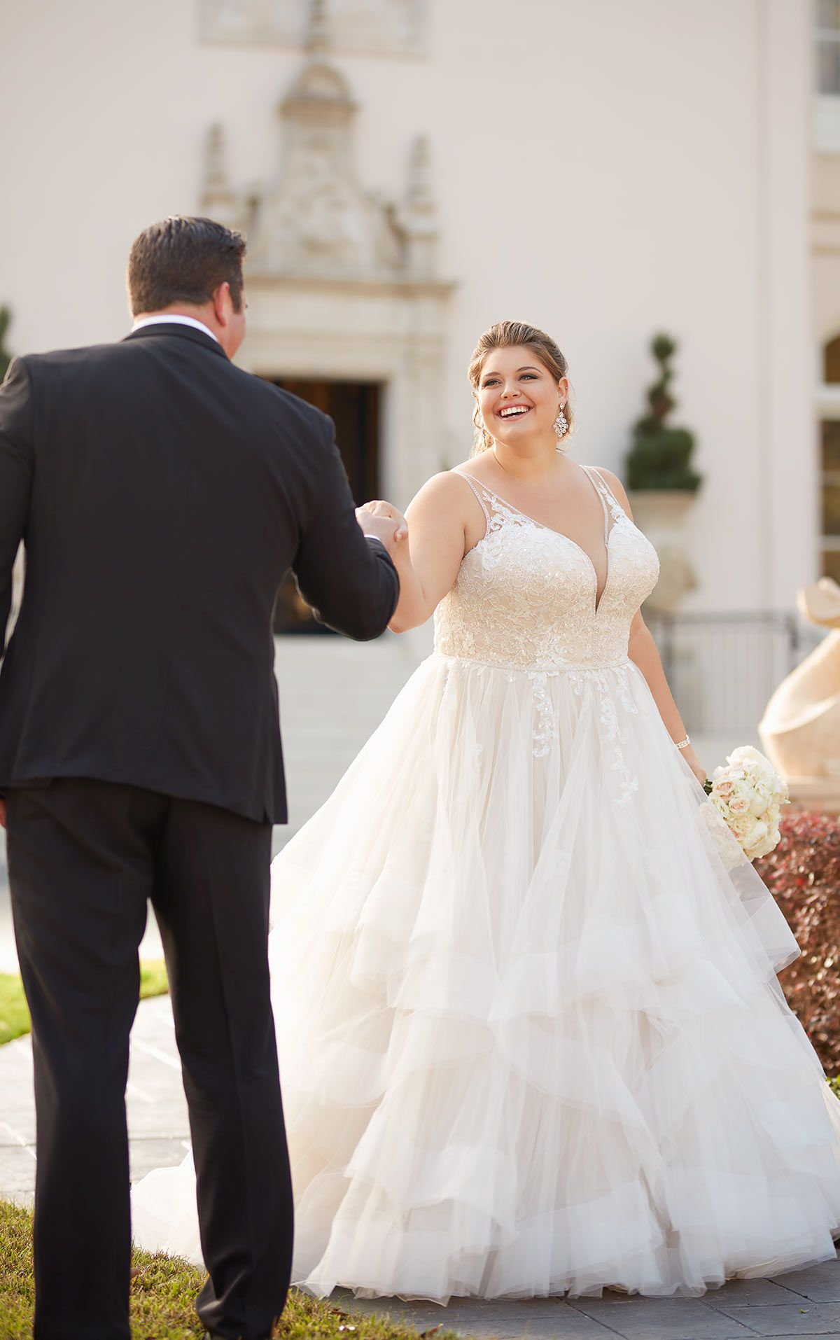 Shimmering Ballgown Plus-Size Wedding Dress - Stella York ...