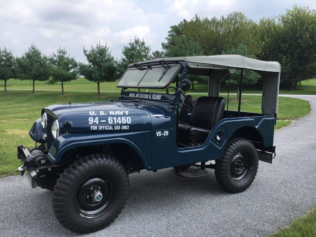 1958 Willys Jeep Cj 5 Us Navy And M100 Trailer Mobil