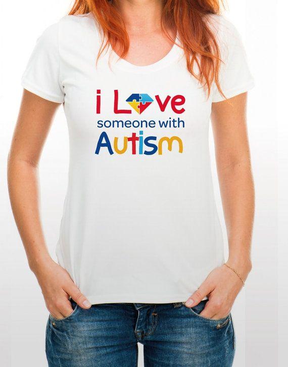 Autism T-Shirt I Love Someone with Autism AUTISM DIAMOND