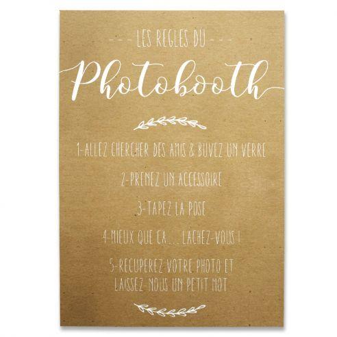 pancarte kraft photobooth mariage grand mod le photobooth pinterest pancarte mod le et. Black Bedroom Furniture Sets. Home Design Ideas