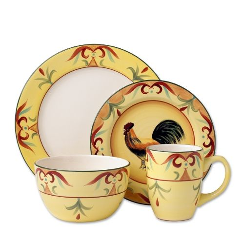Pfaltzgraff Everyday Tuscan Rooster 16 Piece Dinnerware Set - Giving Gallery I just love rooster dishes  sc 1 st  Pinterest & Pfaltzgraff Everyday Tuscan Rooster 16 Piece Dinnerware Set - Giving ...