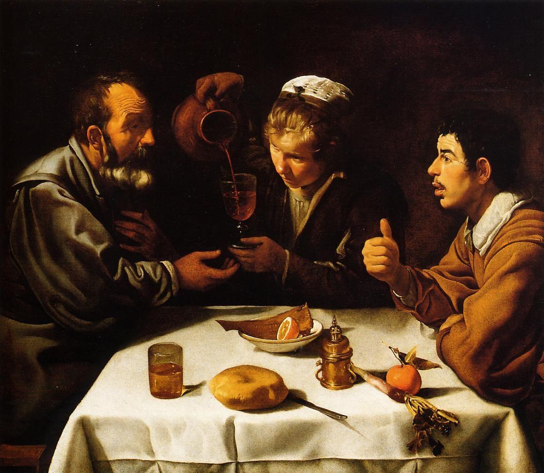 Diego Velázquez ~ Boerenmaaltijd ~ 1618-1619 ~ Olieverf op doek ~ Szépmüvészeti…