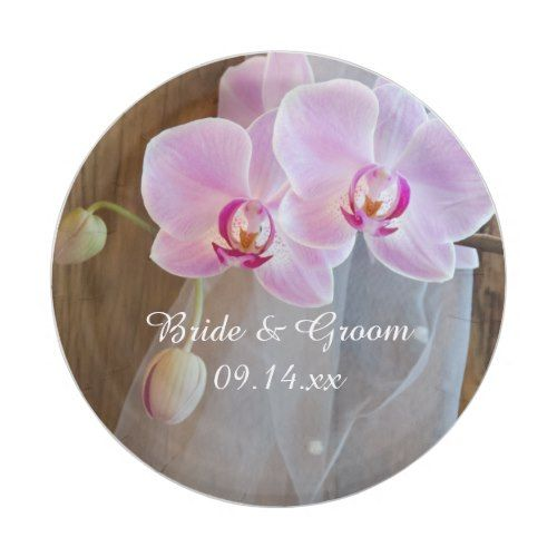 Rustic Orchid Elegance Country Wedding Paper Plate | Rustic ...