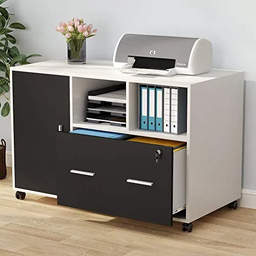 Tribesigns Large File Cabinet With Lock And Drawer Furniturev Com Filing Cabinet Printer Stand Cabinet