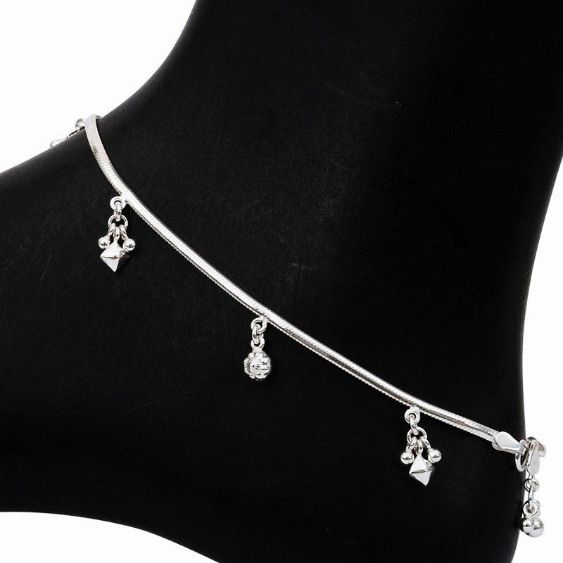 vermeil appl silver small ankle sterling bracelet anklet ball bling jta and bracelets view women jewelry all heart chain gold for anklets