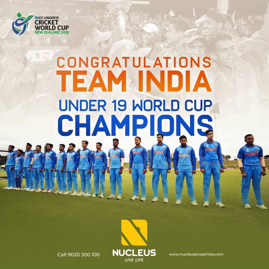 They Came They Saw They Conquered Congratulations Team India For Winning The Under 19 World Cup U19cwcfinal U19world World Cup Champions World Cup Life