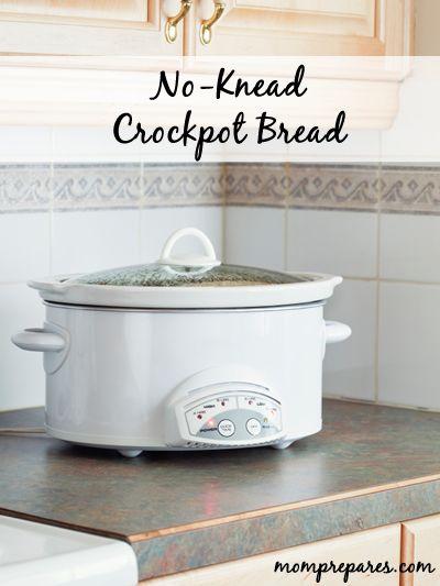 No-Knead Crockpot Breadhttp://www.momprepares.com/2013/04/15/no-knead-bread-recipe-for-the-crockpot/16108