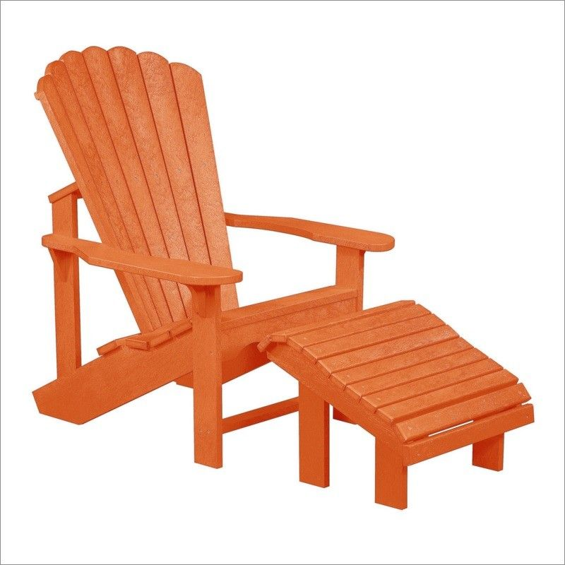 CR Plastic Products Generations Adirondack Chair With A Premium Footstool