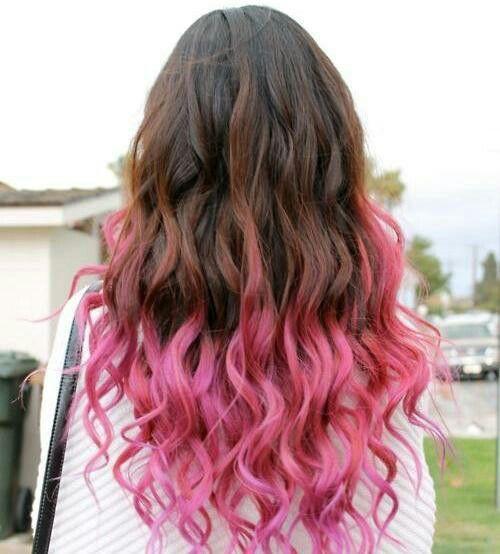 شعر بنات ملون Hair Styles Dip Dye Hair Hair Color Pink