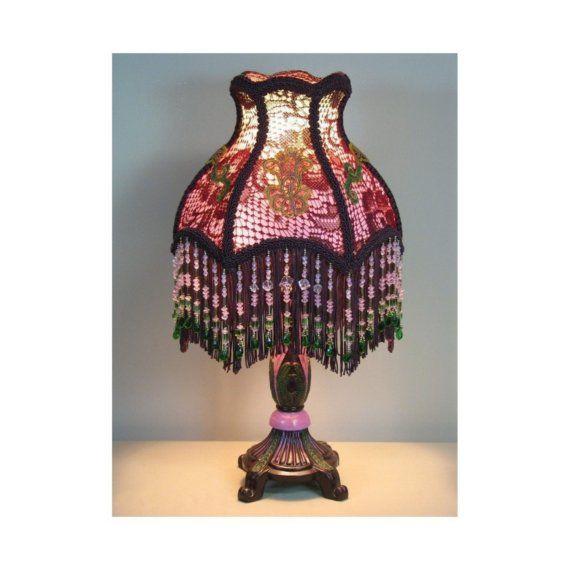 Small Vintage Style Table Lamp With Victorian By Shadezofmichelle 565 00 Viktorianskij Lampa