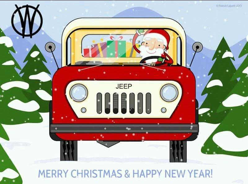 Christmas Jeep Vintage Christmas Car Jeep Old Jeep
