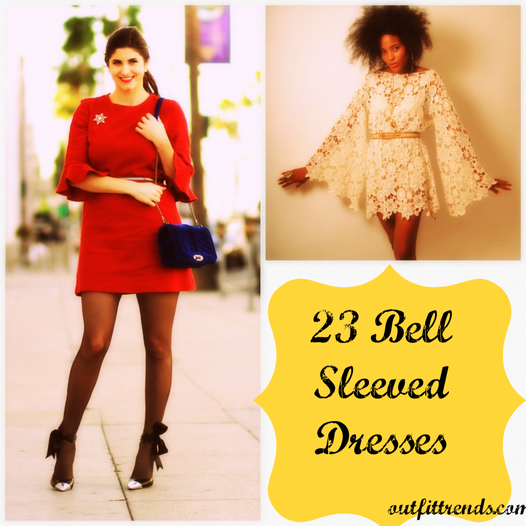 How to Wear Bell Sleeve Dress-23 Outfit Ideas with Bell Sleeve